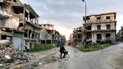 Syria. Returning home to ruins in Homs
